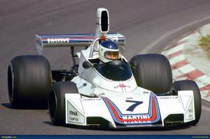 Martini Racing. Nel 1975 con la Brabham.