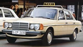 Mercedes W123 utilizzata come taxi.