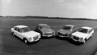 Mercedes W114. Tutti le versioni di questo modello. Oggi auto d'epoca molto ricercate.