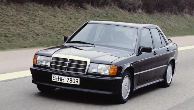 Mercedes 190. E' stata disegnata da Bruno Sacco.