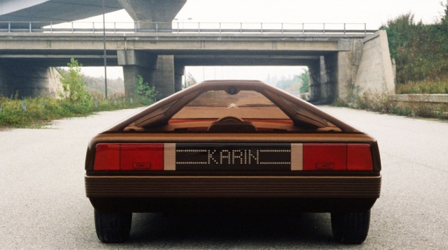 citroen karin è il prototipo creato da citroen nel 1980, con carrozzeria a forma piramidale