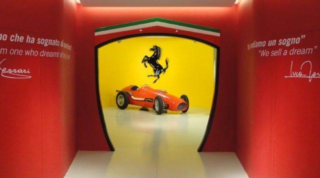 Il museo Ferrari di Maranello.