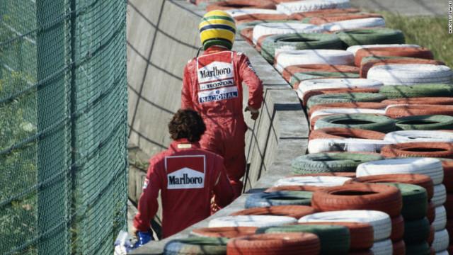 Ayrton Senna e Alain Prost.
