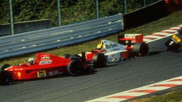 Suzuka 1990. L'incidente tra Senna e Prost.