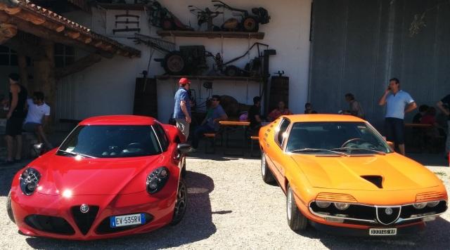Alfa Romeo Montreal e 4C. La prima ha vinto il premio best of show.