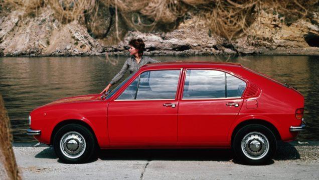 Alfa Romeo Alfasud. L'aerodinamica era uno dei suoi punti di forza.