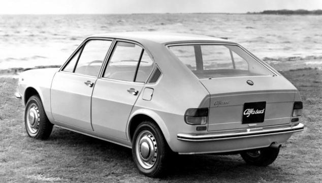 Alfa Romeo Alfasud. Indimenticabile il design del posteriore.