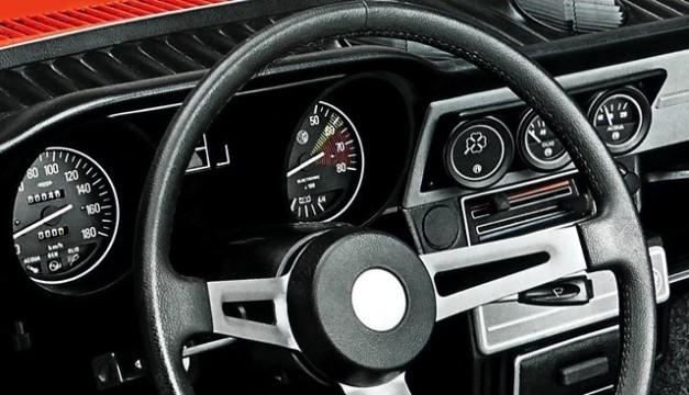 Alfa Romeo Alfasud. Gli interni della versione ti.