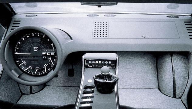 Maserati Boomerang. Estremi anche gli interni.