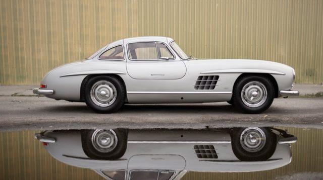 Mercedes 300 SL Gullwing. Uno dei 29 esemplari in alluminio.