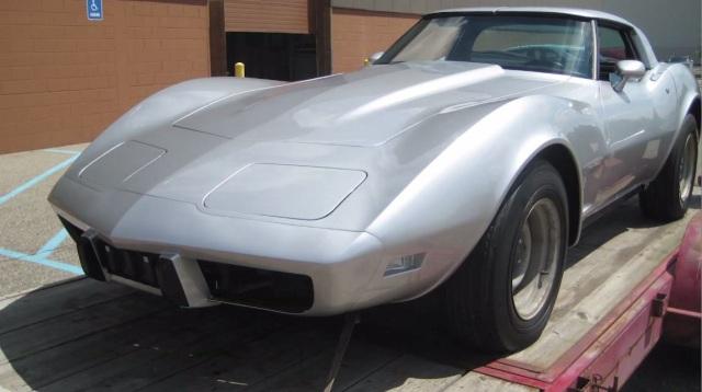 La Corvette prima del restauro.
