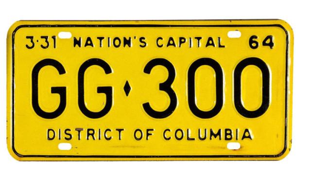 La targa della macchina di Kennedy.