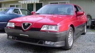 Una rara Alfa 164 Q4.