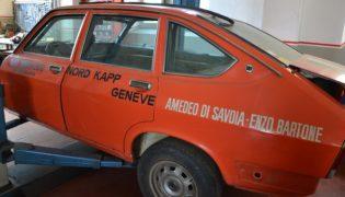 L'Auto d'epoca prima del restauro.