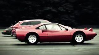 La Skoda Superb e la Ferrari.