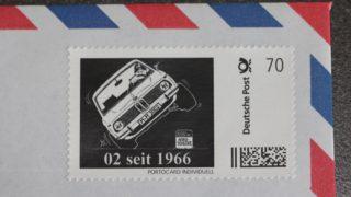 Il francobollo della BMW 02.