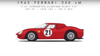 Ferrari 250 LM, 1965. Ha partecipato a Le Mans.