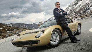 Gian Paolo Dallara e la Lamborghini Miura.