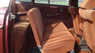 L'interno della limousine.