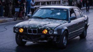 La BMW M5 blindata che ha salvato tante persone dai cecchini dell'ISIS a Kirkuk, Iraq.