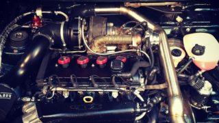 Il motore da 600 cavalli della Volkswagen Golf GTI Pirelli del 1983.