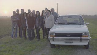 La Ford Fiesta della famiglia Tedeschi.
