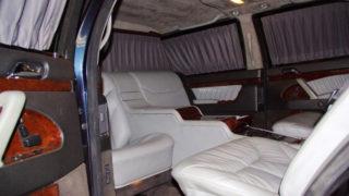 Il salotto della limousine di Vladimir Putin.