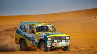 Il Nissan Patrol che ha partecipato alla Parigi Dakar del 1987.