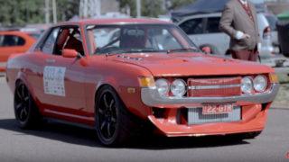 La Toyota Celica diventa un'auto da corsa.