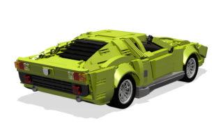 Retro della Lamborghini Miura.