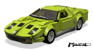 Una Lamborghini Miura di Lego.