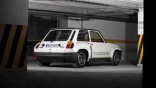 La Renault 5 Turbo 2 ha il motore posteriore e anche la trazione.