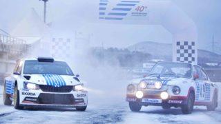 Skoda al Rally di Montecarlo.