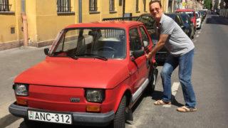 Tom Hanks con la Polski Fiat 126.