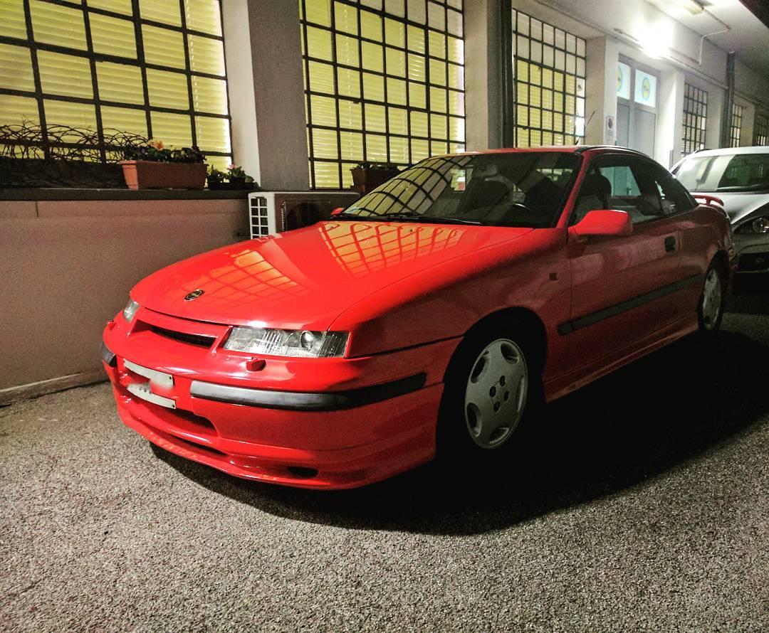 Instant classic quartamarcia opel calibra red car cars carporn drivetastefullyhellip