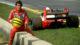 Il pilota di formula 1 Ayrton Senna.