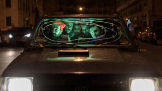 Ex Otago in Fiat Panda nel video Gli occhi della luna