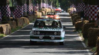 Fiat 131 Abarth Rally durante una gara