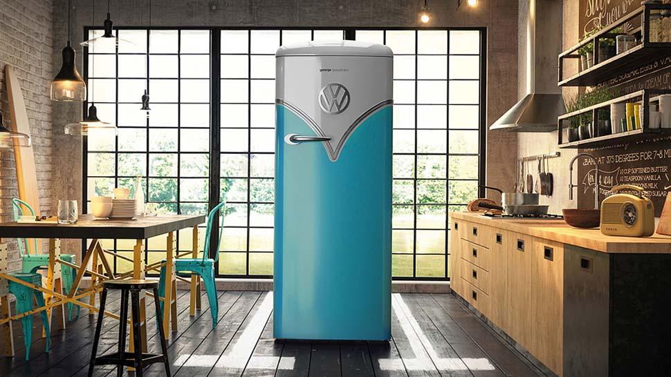 arrivato anche il frigo volkswagen vintage quartamarcia. Black Bedroom Furniture Sets. Home Design Ideas
