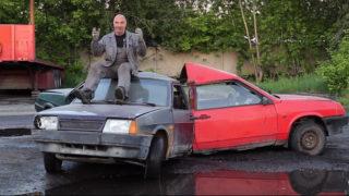 fidget spinner con tre auto in russia