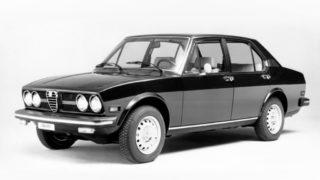 Una Alfa Romeo Alfetta per il mercato americano.