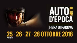 Auto e moto d'epoca 2018 si tiene alla fiera di Padova dal 25 al 27 ottobre.