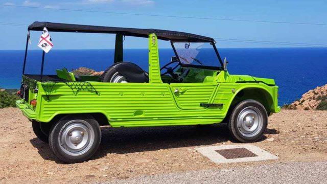 Citroen Mehari, via dalla città con la spiaggina verde
